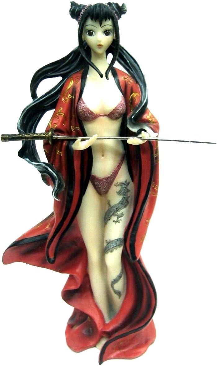Hembra Assassin figura decorativa con diseño de tatuaje Manga de ...
