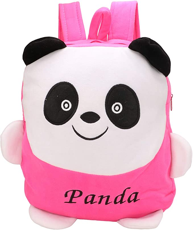 PRACHI TOYS Panda Printed School Bag for Baby Boys and Girls (Pink)