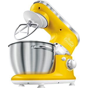 SENCOR SCR-STM3626YL-NAA1 4.2 Qt. 6-Speed Stand Mixer, Solid Yellow