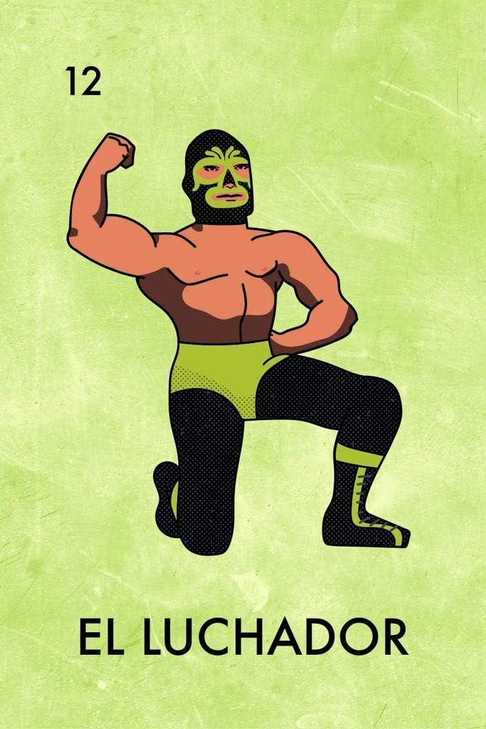 El Luchador Mexican Lottery Parody Mask Wrestler Mexican Wrestling Lucha Libre Cool Wall Decor Art Print Poster 12x18
