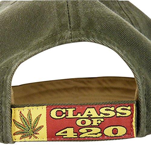 0ad41c00f2cd Class of 420 Stoner High Marijuana Leaf Baseball Cap Hat Weed MJ ...
