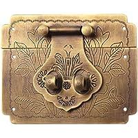 DOITOOL Retro Sieradendoos Antiek Gesp Decoratieve Latch Gesp Vintage Doos Hasp voor Doos (Bronzen)