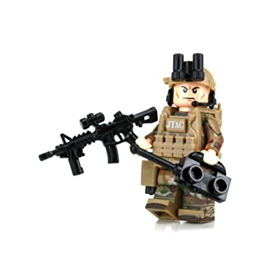 Battle Brick JTAC/CCT Air Force Special Forces OCP Custom Minifigure: Toys & Games
