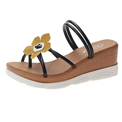 175b733a83d6c Amazon.com : DDKKK Women's Fashion Wild Sandals Beach Sandals Solid ...