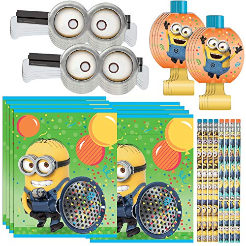 Unique Despicable Me Minion Party Favors and Supplies | Pencils, Paper Goggles, Blowouts and Loot Bags -