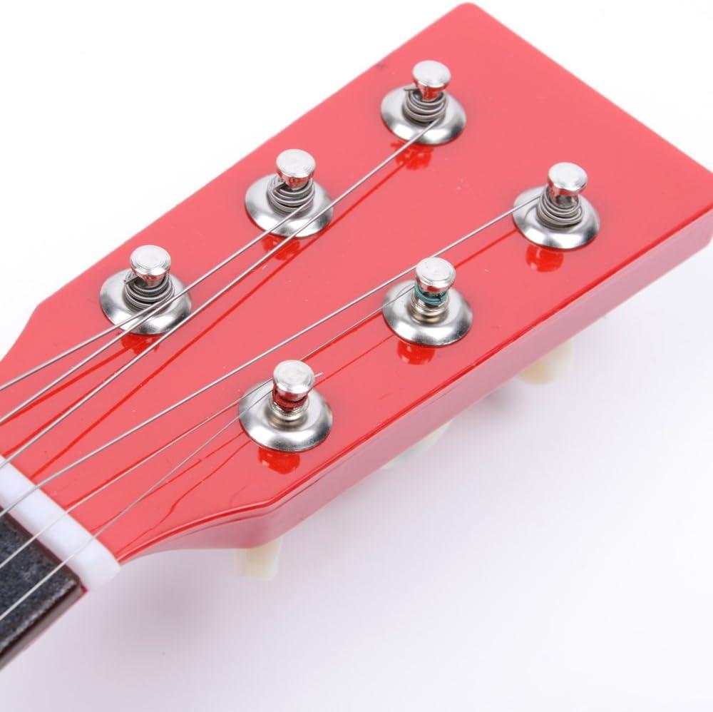 Mini Acoustic Guitar Beginner Kit for Beginner Starter LAGRIMA/23 Inch Beginner Acoustic Guitar Red Kids Children