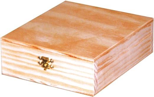 Caja madera natural. Para manualidades. Medidas: 11 * 13 * 5 cms ...