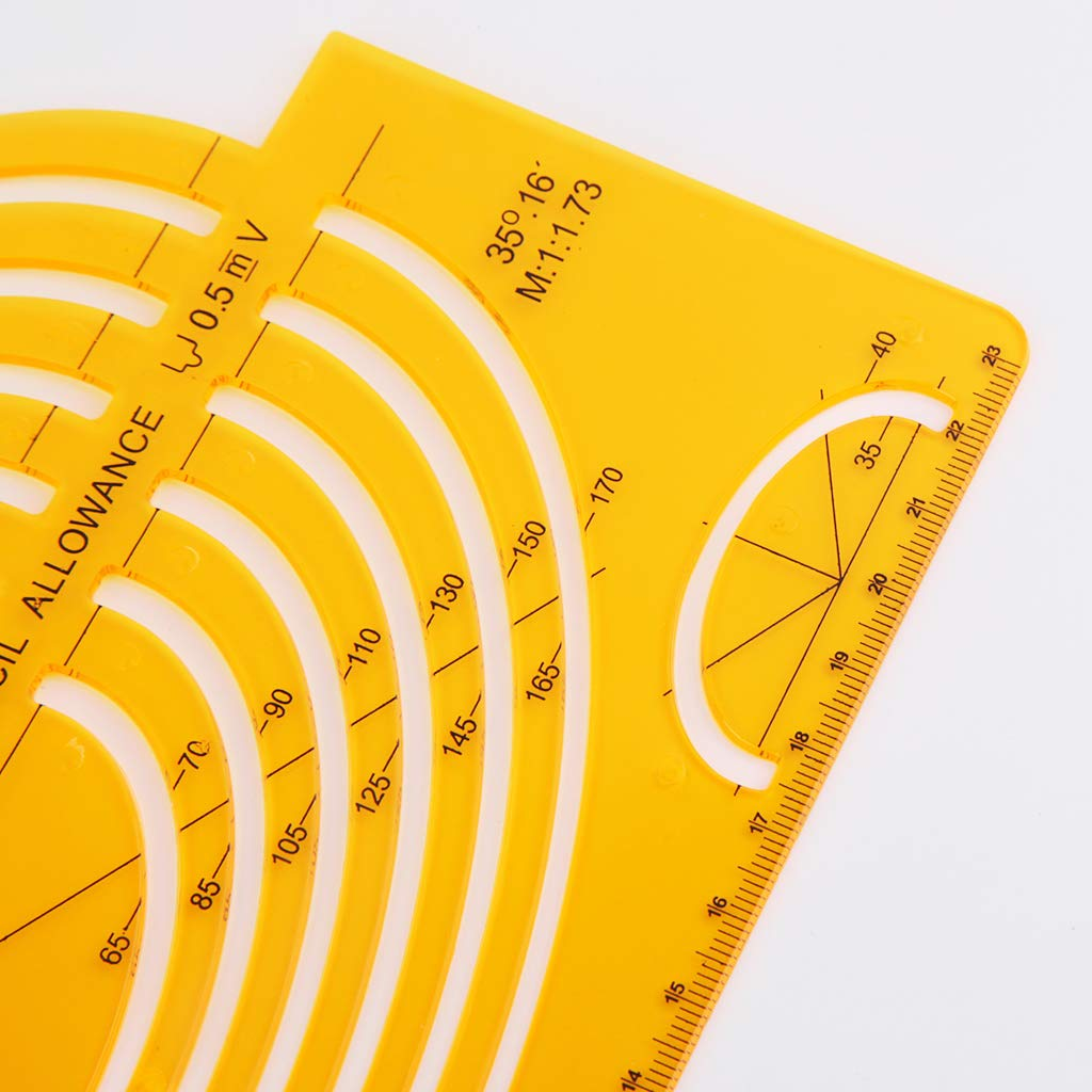 Oranmay K Resin Ellipses Drafting Templates Large Isometric Ruler Measuring Tool Student
