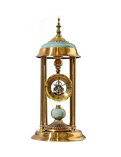 Mieoson Reloj de Pared multifunción Reloj de sobremesa Reloj de Mesa Decorativo Antiguo de cerámica Romana