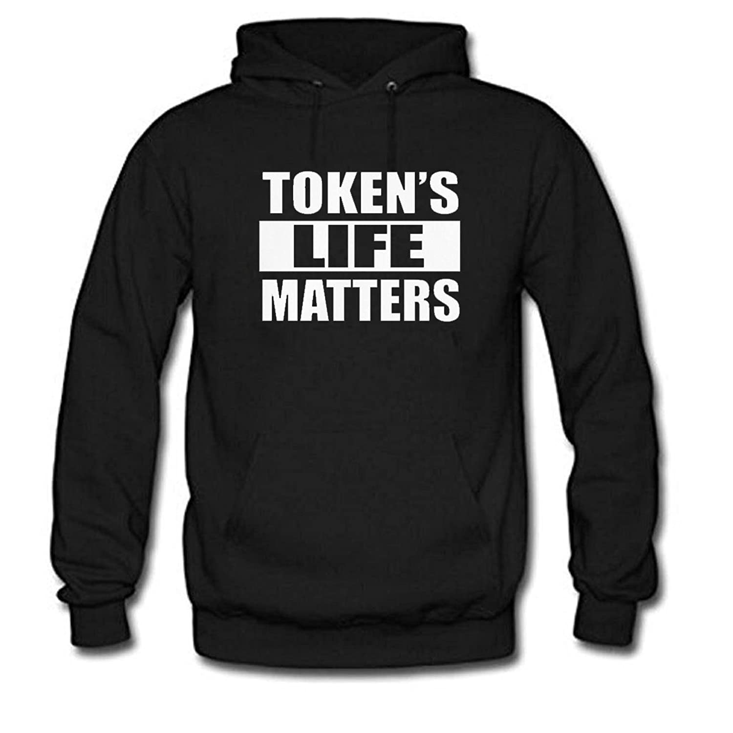 lovely TOKEN'S LIFE MATTERS Men's Long Sleeve Cotton Hoodie