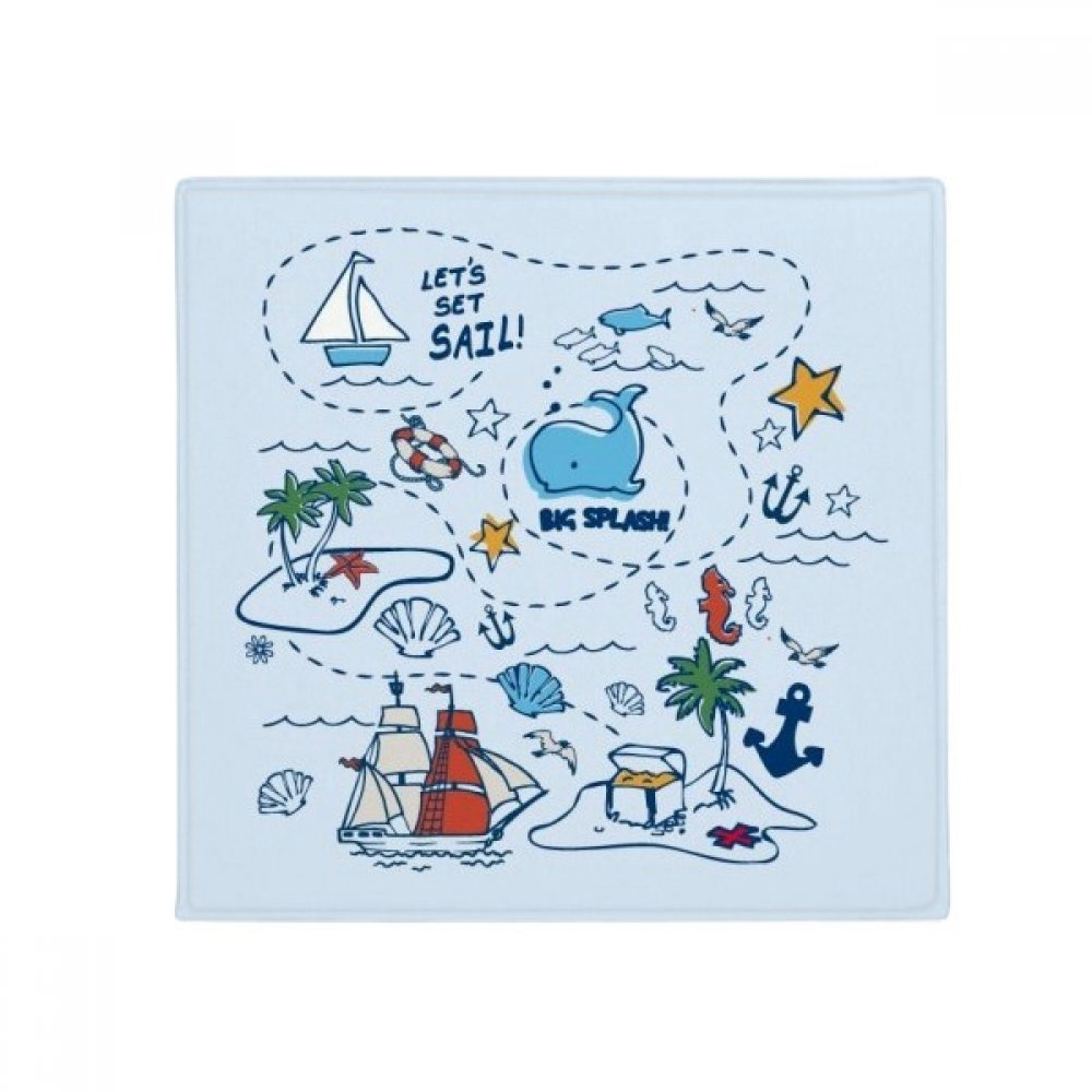 DIYthinker Sail Splash Travel Anti-Slip Floor Pet Mat Square Home Kitchen Door 80Cm Gift