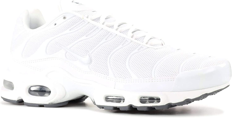 Nike Air Max Plus lifestyle fashion sneakers white white-black-cool grey New 604133-139 – 11.5