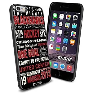 Chicago Blackhawks NHL, WADE1307 Hockey iphone 5c inch Case Protection Black Rubber Cover Protector
