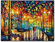 123 Life New Rains Rustle De Leonid Afremov Pintura Al óleo Arte De La Pared Impresiones Artísticas En Lienzo