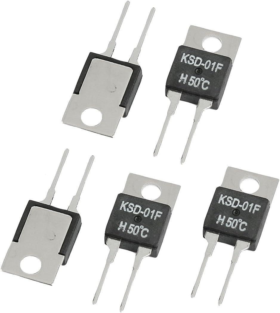 5 Pcs KSD-01F 90 Celsius NO Temperature Switch Thermostat 1.5A 250VAC// 24VDC