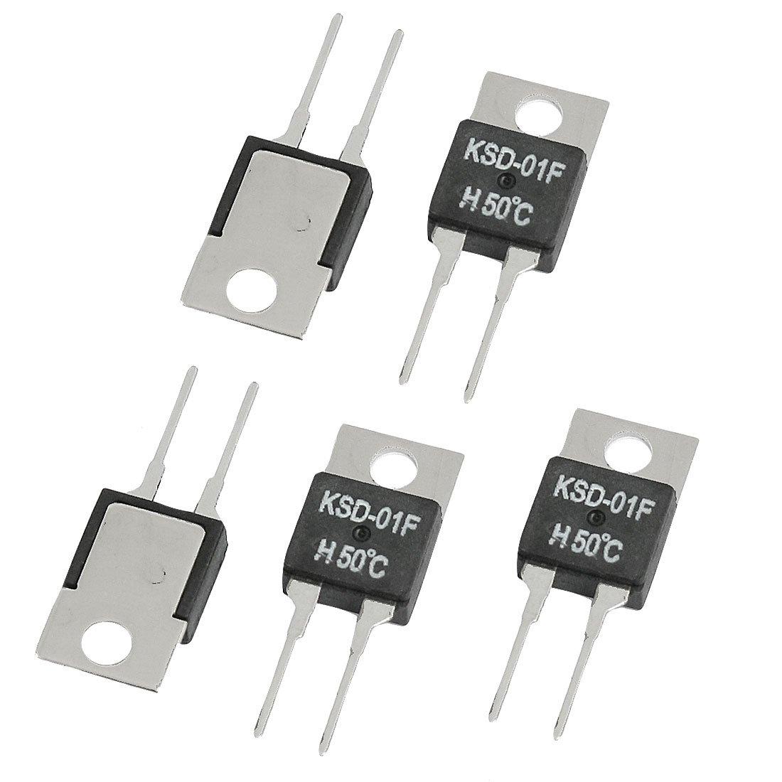 5 piezas 50 5050 Celsius sin abierto Normal KSD-01F H50C termostato Interruptor de Temperatura Sourcingmap a12070400ux0006