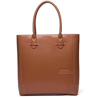 cfdeb8fc8482 BOSTANTEN Leather Handbags Tote Purses Top-handle Bags for Women On Sale  Coffee