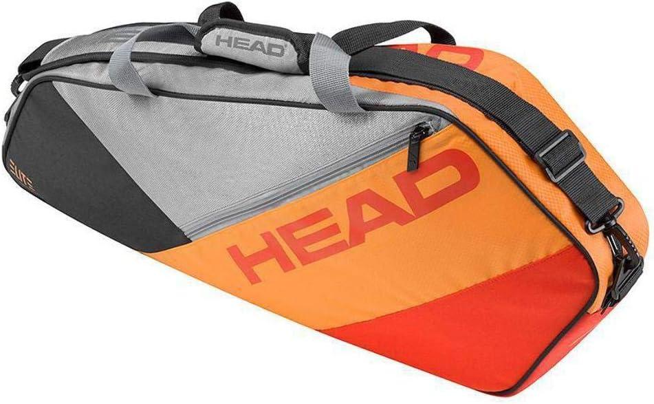 Head Elite Pro 3ラケットバッググレー/オレンジ