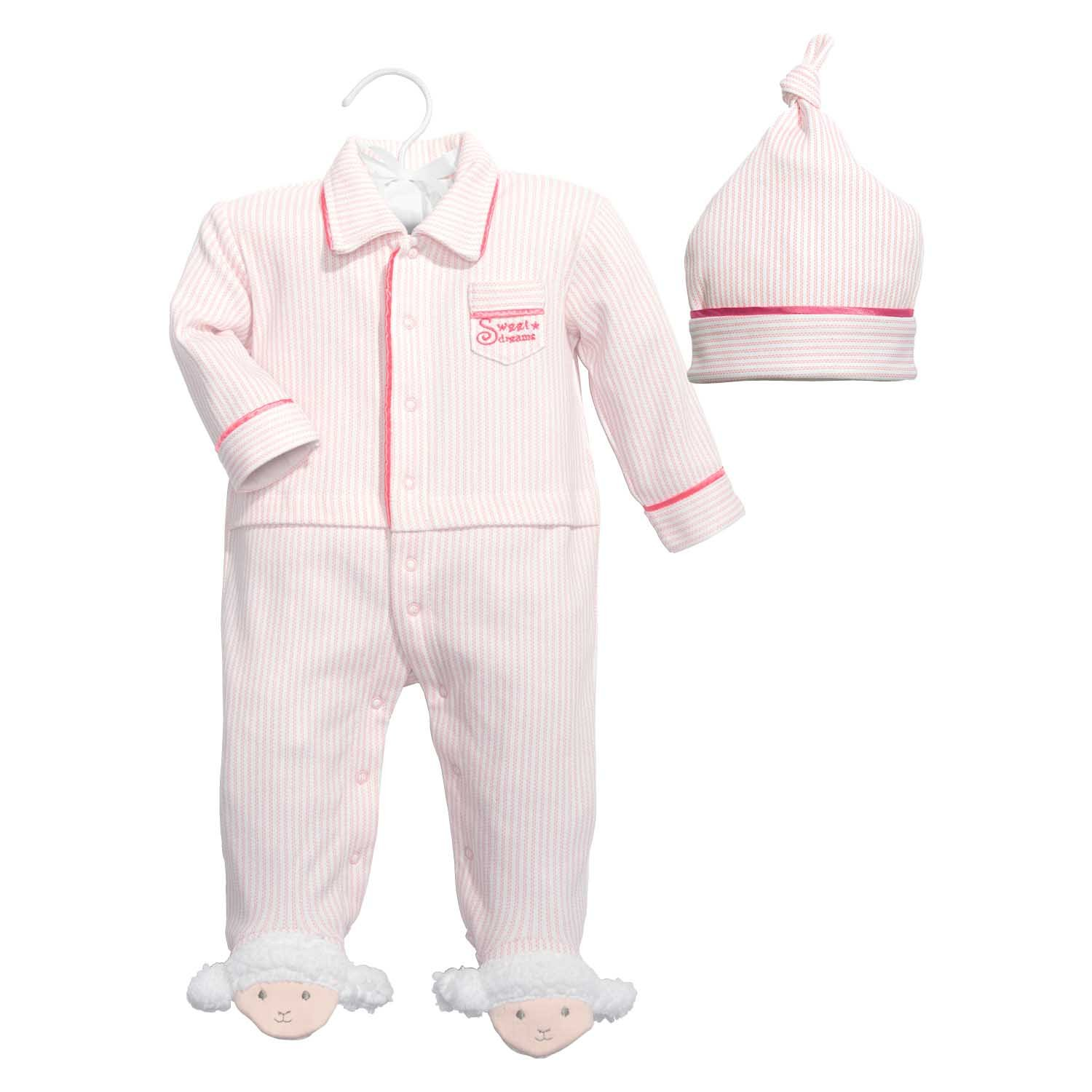 Baby Dumpling Hush Little Baby Girl's Sleep and Play Gift Set, Pink/White, 0-3 Months C.R. Gibson 108-G5M3