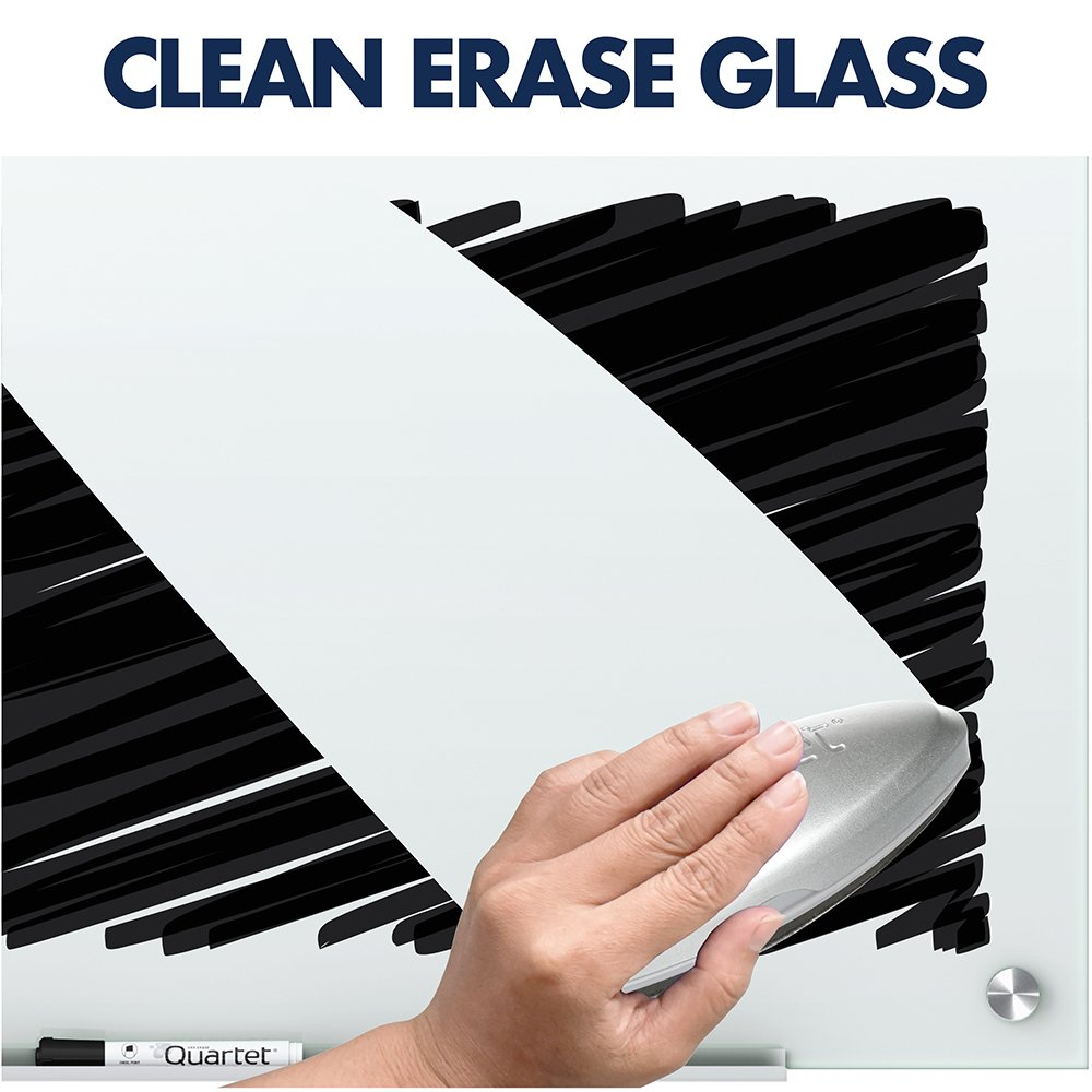 Quartet Glass Whiteboard, Magnetic Dry Erase White Board, 4' x 3', Infinity, White Surface (G4836W) by Quartet (Image #3)