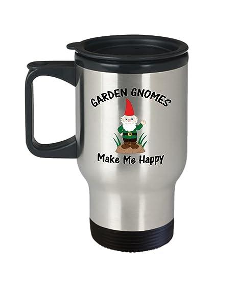 Amazon.com: Gnomo de jardín taza de viaje – 14oz vaso de ...