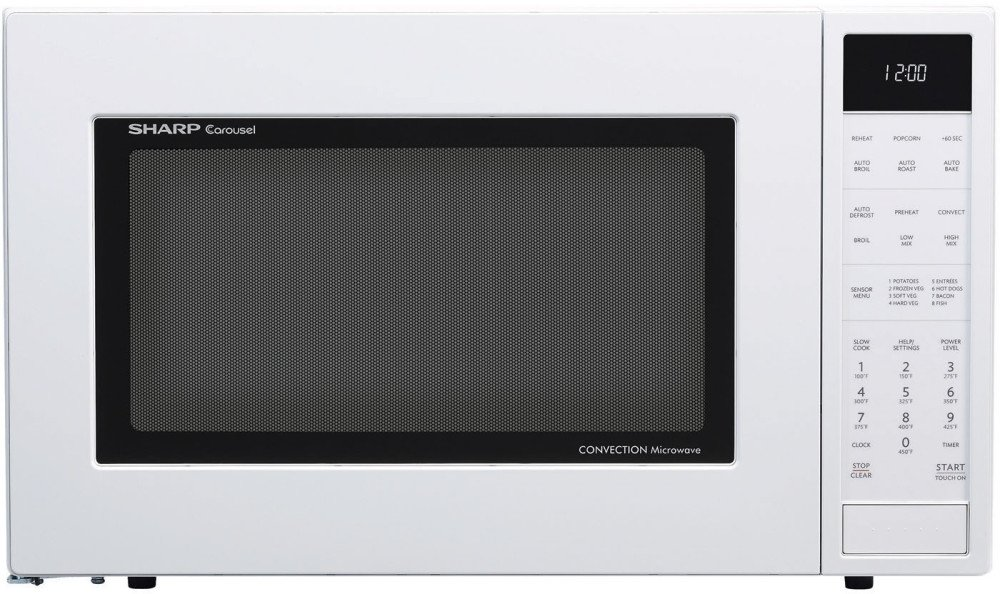 Sharp SMC1585BW 1 5 cu  ft  Microwave Oven with Convection Cooking, in White