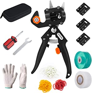 LCDCM Portable Fruit Tree Grafting Machine Garden Grafting Seedlings Grafting Machine with Foliage Trimming Scissors Grafting Cutting Tool Set (Grafting Shear)