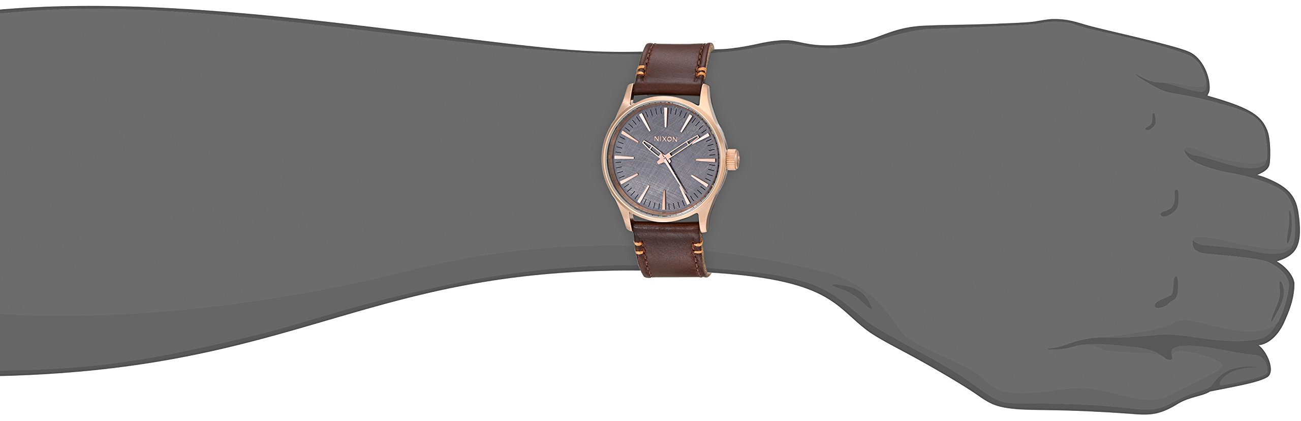 Nixon Men's A3772001 Sentry 38 Leather Watch by NIXON (Image #2)