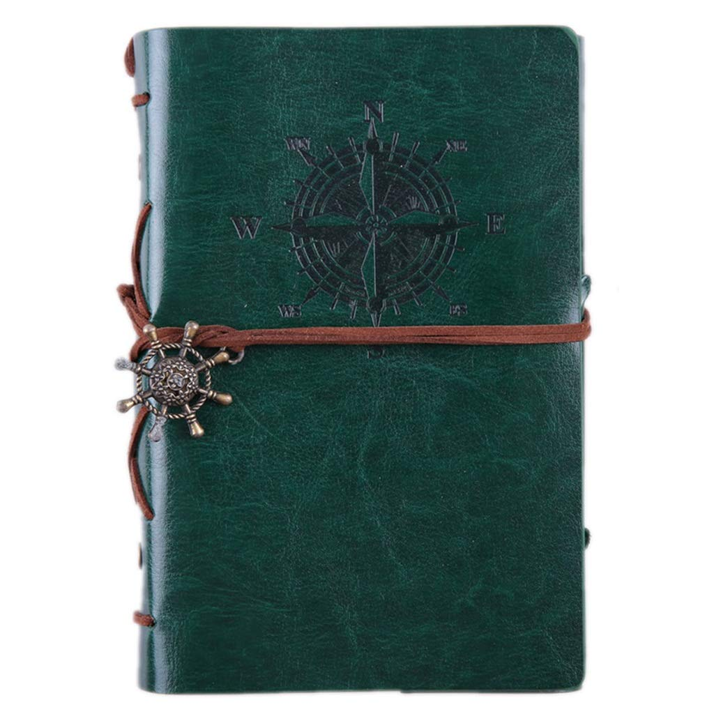 B 4PCS 2019 Spiral Notebook Diary Notepad Vintage Pirate Anchor PU Leather Notebook Replaceable Stationery Gift Traveler (color   A, Size   4PCS)