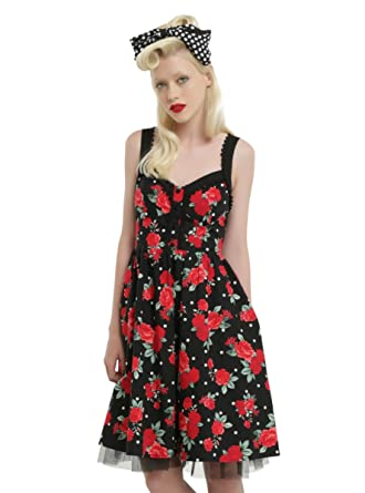 65a9924fc091 Black & White Polka Dot Floral Dress at Amazon Women's Clothing store: