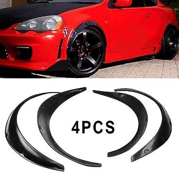 4X Universal SUV Car Body Fender Flares Flexible Durable Polyurethane Kit Black