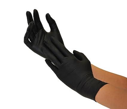 Einweghandschuhe Nitril 200 Stück Box (L, Nitril schwarz) Nitrilhandschuhe, Einmalhandschuhe, Untersuchungshandschuhe, Nitril