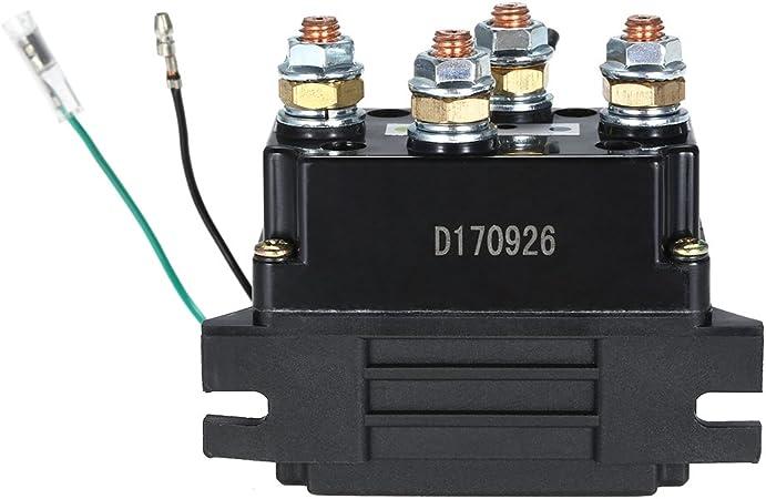 KKmoon Relais de Sol/éno/ïde Treuil 12 v Heavy Duty Upgrade Equiv 500 a Amp Reprise 4x4 17000lb