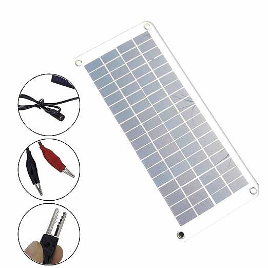 lzndeal Cargador Solar de la Batería del Panel Solar 12 V a ...