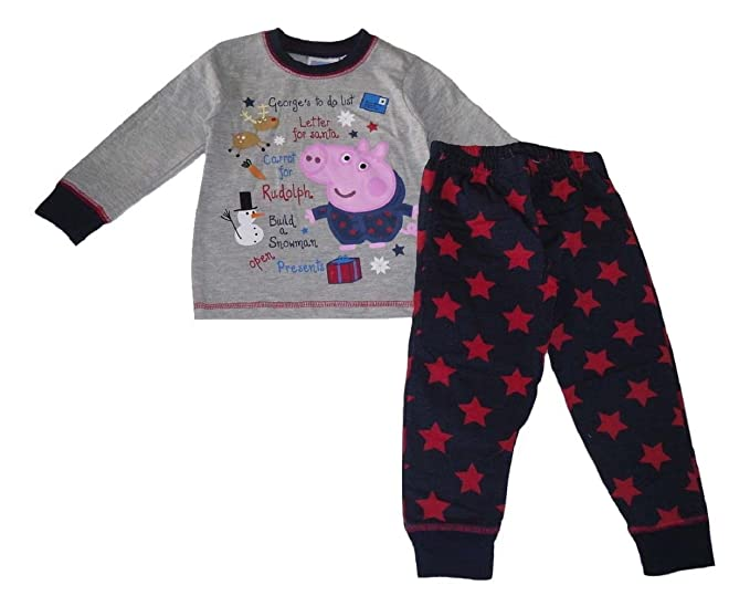 George Pig - Pijama Dos Piezas - para niño Gris Gris: Amazon.es: Ropa y accesorios