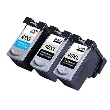 Caidi Compatible Canon PG-40 XL CL-41 XL Cartuchos de Tinta Para ...