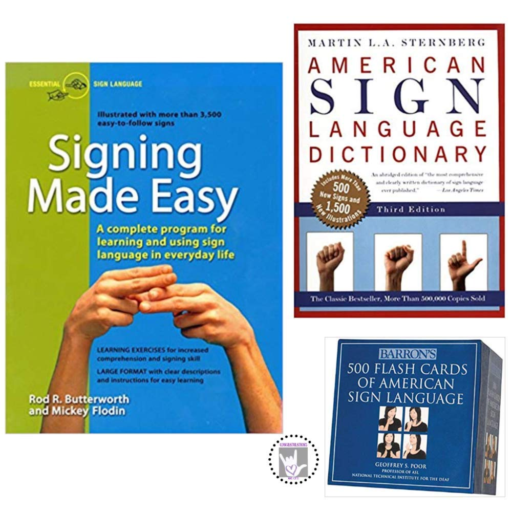 Learn American Sign Language Kit: Barron's 500 Flash Cards, ASL Dictionary and Signing Made Easy
