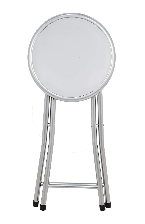 Bianco 30/x 30/x 45/cm Alluminio La sedia Spagna Palma Sgabello pieghevole imbottito