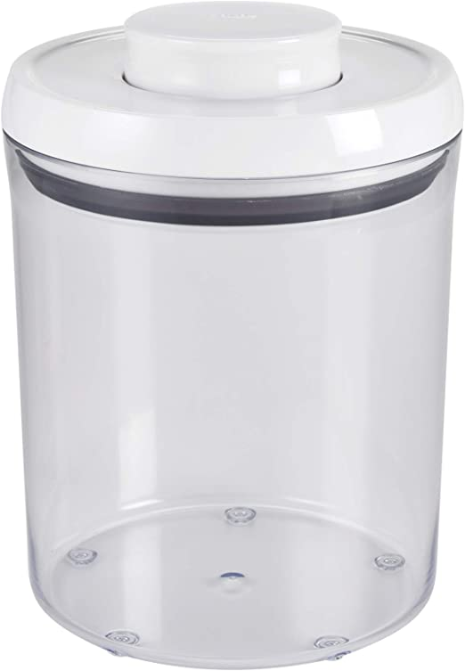 """Oxo Good Grips 4 Qt White Plastic 9.3/"""" High Pop Food Storage Container 1071396"""