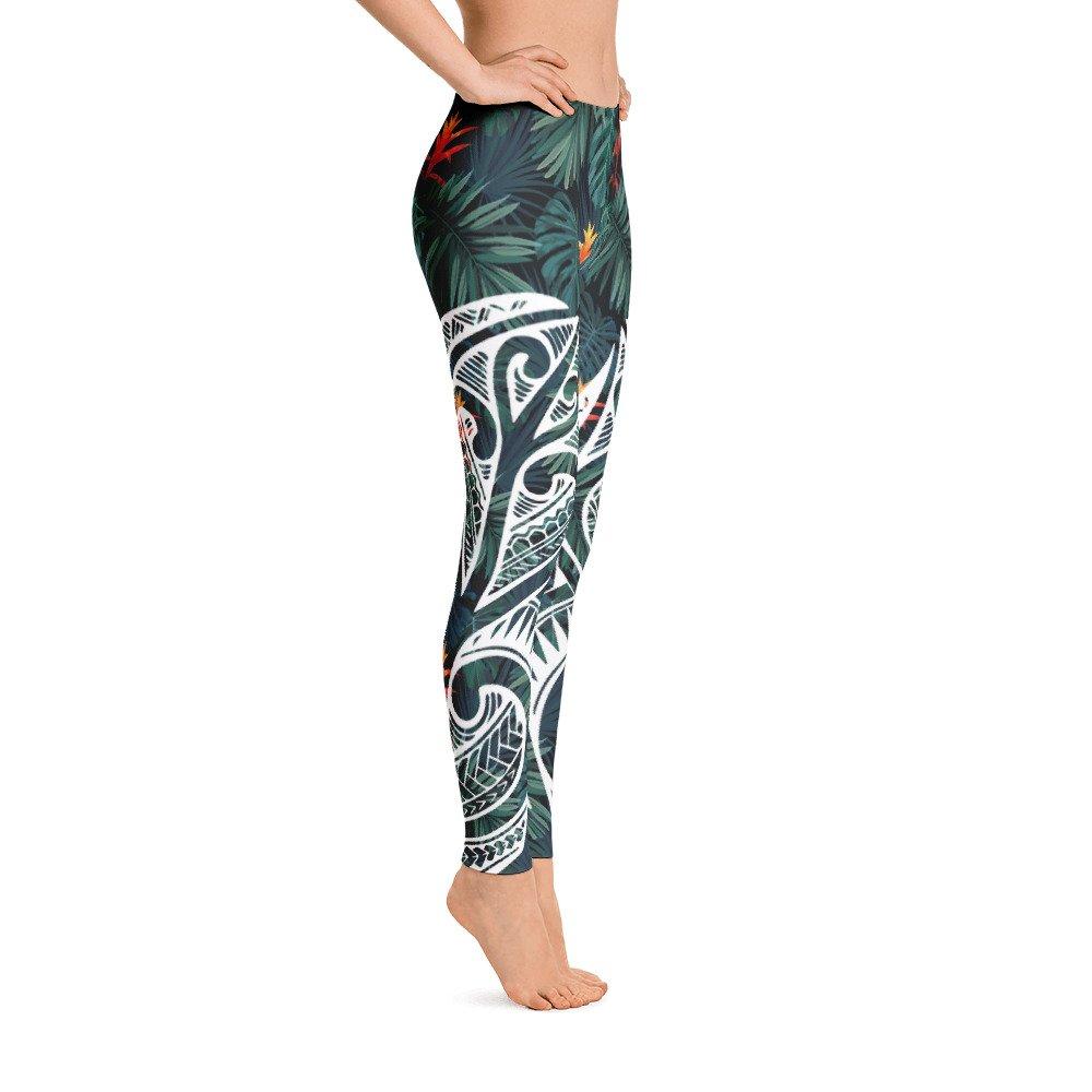 Atikapu Hawaiian Designs Leggings Mixing with Maori Designs.