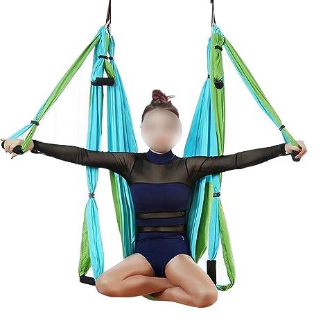Anglayif Juego de Columpios de Yoga aéreo - Hamaca de Yoga ...