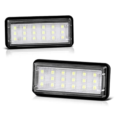 VIPMOTOZ Full LED License Plate Light Lamp Assembly Replacement For Toyota Land Cruiser Lexus GX470 LX470 LX570-6000K Diamond White, 2-Pieces: Automotive