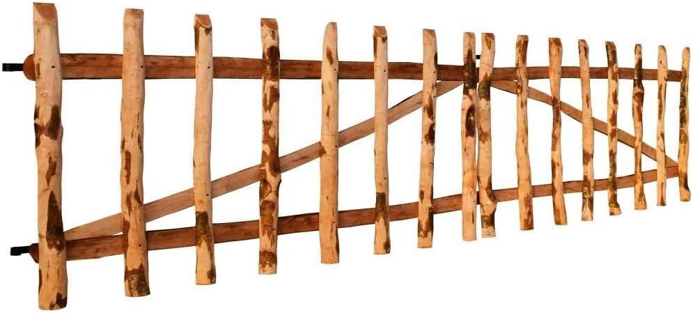 Tidyard Puerta Doble de Madera para Jardín,Puerta para Valla Verja Cercas o Cercados para Jardín Patio,Madera de Avellano,300x60cm: Amazon.es: Hogar