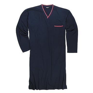 codice promozionale c1139 63c6a Adamo Camicia da Notte con Maniche Lunghe in Blu Oversize