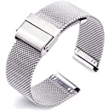 ZHUGE Cinturino Orologio - Cinturino Milanese in acciaio inossidabile 18mm 20mm 22mm