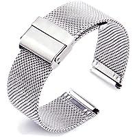 ZHUGE Bracelet de Montre - Bracelet de Montre en Acier Inoxydable Maille milanaise 18mm 20mm 22mm