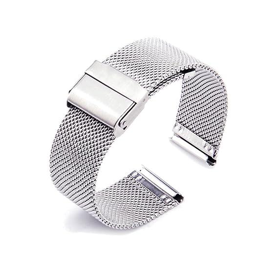 ZHUGE Mode Correas para relojes - Correa de reloj de acero inoxidable Milanese Mesh Para Mujeres 18mm 20mm 22mm: Amazon.es: Relojes