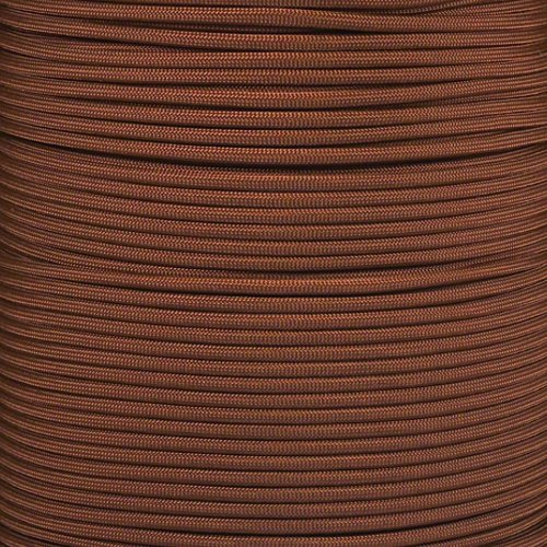 PARACORD PLANET 550 Paracord - Solid Colors - for Indoor and Outdoor Applications (10 Feet, Chocolate Brown)