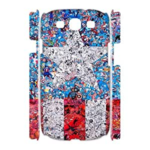 I-Cu-Le Captain America Customized Hard 3D Case For Samsung Galaxy S3 I9300