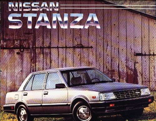 1985 Nissan Stanza Deluxe Sales Brochure XE GL